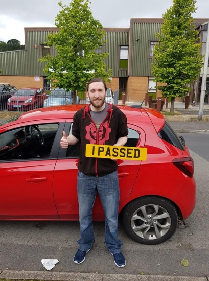 13.6.19 - Congratulations to Rhys Baldwin on passing his automatic test 1st time in Merthyr following a semi-intensive course!!!! Well done and safe d