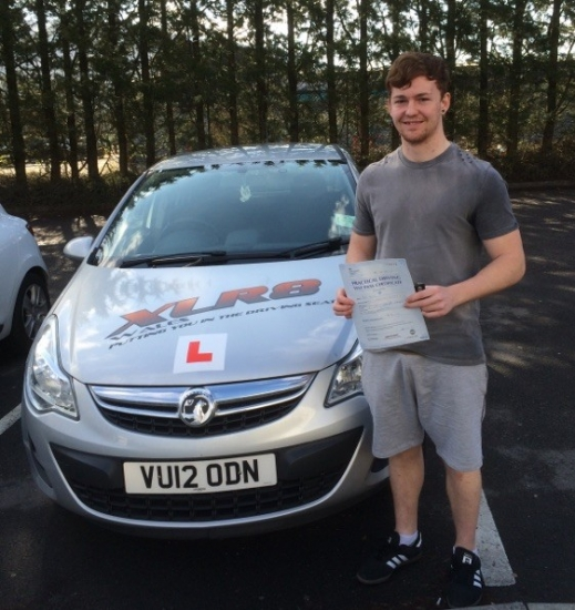 542016 - Congratulations to Rory Brown who passed his driving test today in Merthyr Tydfil 1st time