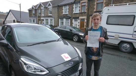 15.8.18 - Congratulations to Ryan Evans on passing his test first time in Merthyr Tydfil this morning with only 2 faults. Cracking result