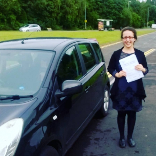 22916 - Congratulations to Sahar on passing her automatic driving test on Monday in Newport First time and with just 3 minors Brilliant