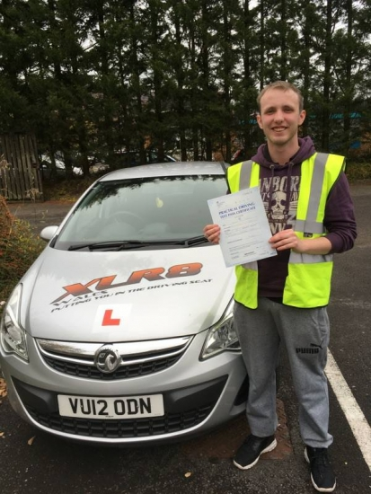 91116 - Congratulations to Sam Walters who passed his driving test 1st time in Merthyr Tydfil with only 4 little minor faults well done to both you and our Peter