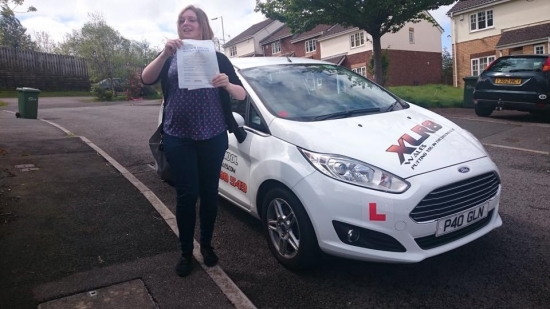 5515 - Congratulations to Sarah McGinley on passing her test 1st time this morning in Pontypridd good luck hunting for your new car and looking forward to seeing you out and about
