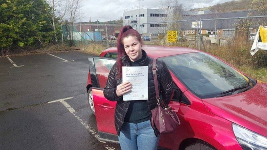 21317 - A Brilliant result for Seren today after passing her automatic driving test with just 2 little minors and masses of praise off the examiner well proud of you Seren