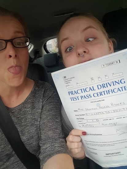 26916 - Congratulations to our XLR8 Wales Baby who went and passed her driving test today with only 2 minor faults outstanding