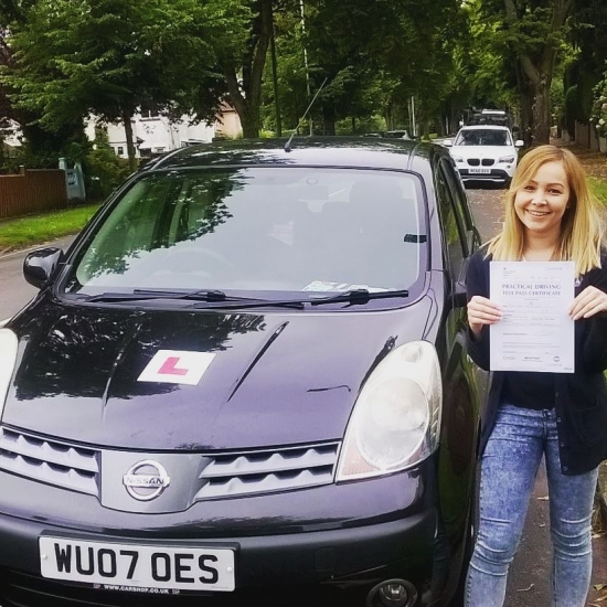 15716 - A massive well done to Sian on passing your automatic driving test today in Newport First time with just 3 teeny tiny minorswhat a week for you Good luck with your new job too