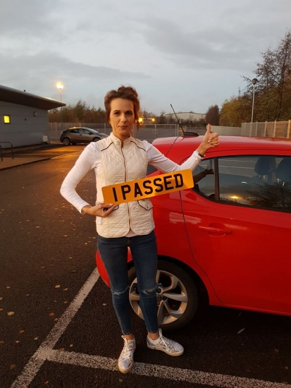 28/11/18 - Congratulations to Sonata Steponaviciute who passed her automatic driving test today with our Rhys, 1st time too!!! Stay safe and enjoy your independance 🚦🚗🌲