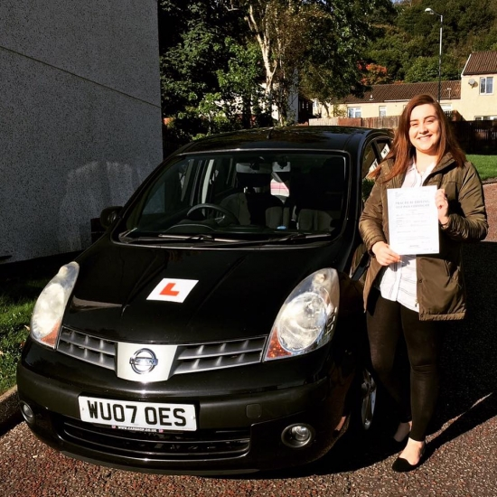 31016 - Well done Steph for passing your automatic driving test today in Abergavenny First time with just 5 minors CONGRATULATIONS