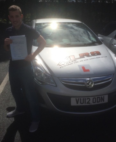 27416 - Well done to Stephen Jones who passed his driving test first time after taking a 2 week semi intensive course with Peter Stunning Result