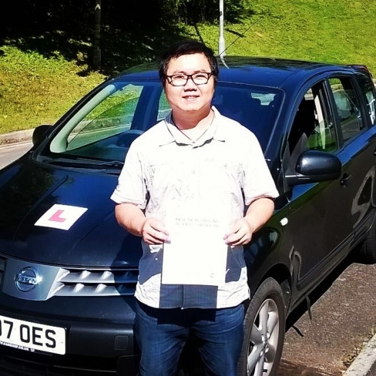 1916 - A huge well done goes out to Sunny for passing his automatic driving test in Newport on Tuesday First time and just 4 minorsEXCELLENT
