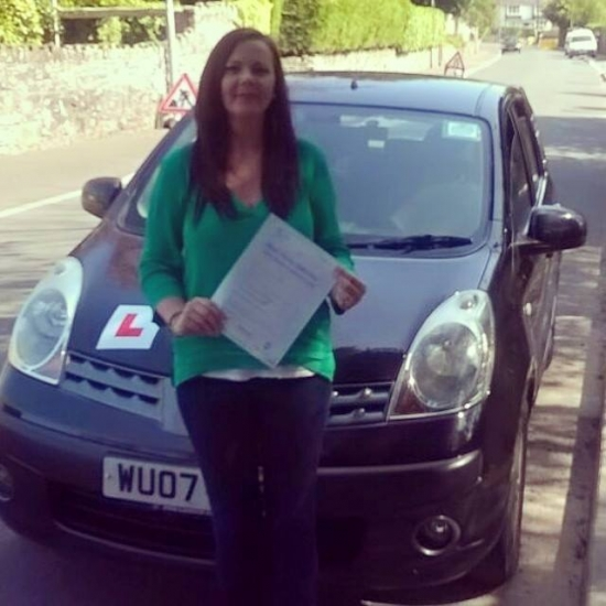 21415 - A big well done to Suzanne for passing her automatic driving test today in Abergavenny with just 2 minors and first time too A-M-A-Z-I-N-G :-