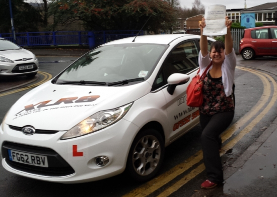 Congratulations to Suzie from Ystrad Mynach on passing her driving test in Merthyr Tydfil 1st time after only 31 hours Well Done