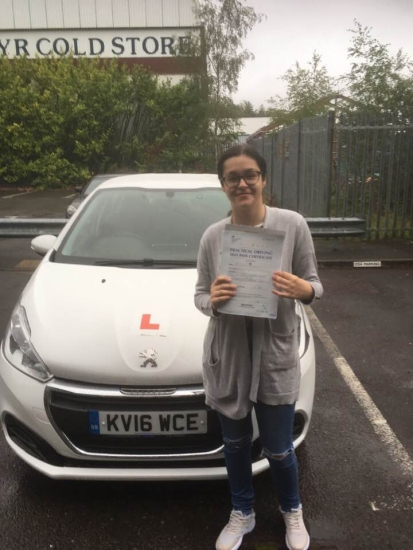 30.08/2019 - Congratulations to Tegan on passing your driving test in Merthyr with our Peter ... All your hard work paid off ���