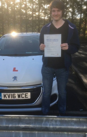 5102017 - Congratulations to Zak King who passed his driving test today in Merthyr 1st time with our Peter :-