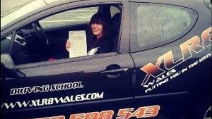 Megan started her driving lessons with XLR8 Wales in July 2013 and passed 1st time after completing a 30 hour semi-intesive course Megan was very happy with the quality of her lessons and the speed at which she managed to get to test standard From the first phone call and the chat with the office right through to booking and passing her test Megan felt looked after
