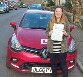 5.2.18 - What a stunning result from Amy Idowu who passed her automatic driving test today in Merthyr 1st time after taking up a 4 week semi intensive course. You put in an immense amount of hard work into this and we are all really chuffed for you... drive safe