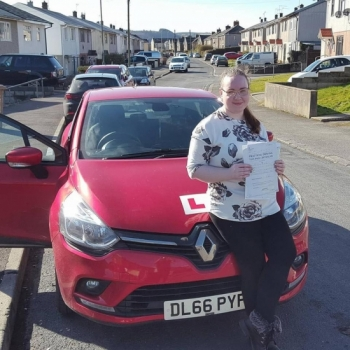13.3.18 - Congratulations goes out to Bridie Parfitt who passed her automatic driving test today in Merthyr... Stunning Result!!