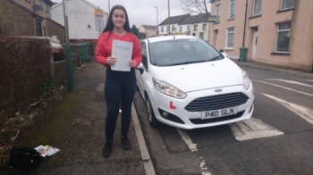 12.3.18 - Congratulations to Ellie Kate jones on passing her test this afternoon first time in Merthyr Tydfil with only 5 faults lovely result